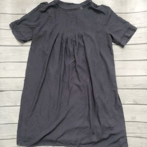 Old Navy gray dress with pleated neckline sz small